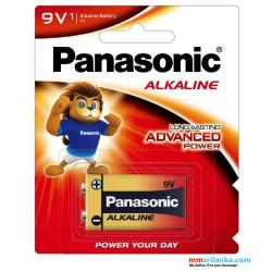 Panasonic 9-volt alkaline battery