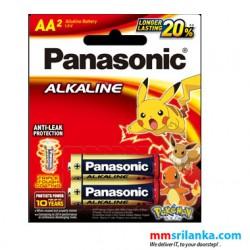 Panasonic Alkaline AA Battery 1.5V 2 Batteries in One Pack