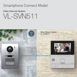 Panasonic Wireless Video Door Phone Intercom System - VL-SVN511 - Smartphone connect model