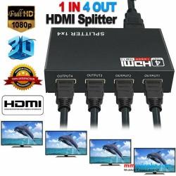 4 Port 1080P Full HD HDMI Splitter Hub