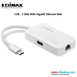 Edimax USB-C to 3-Port USB 3.0 Gigabit Ethernet Hub