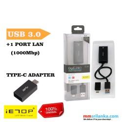 iETOP USB 3.1 Type C & A 2 in 1 Gigabit Ethernet & USB 3.1 Adapter