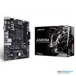 Biostar A520M Desktop Motherboard for AMD RYZEN Processors