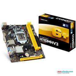 Biostar H110MHV3 Desktop Motherboard DDR3L, HDMI