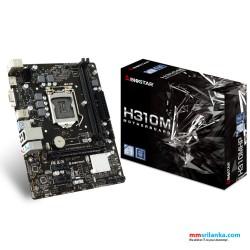 Biostar H310MHP Desktop Motherboard, Socket 1151, DDR 4, D-Sub, HDMI