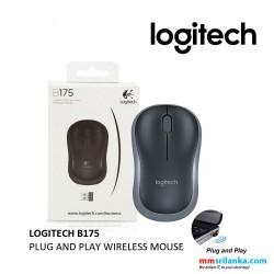 Logitech B175 Black Wireless USB Optical Mouse