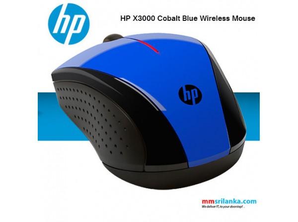 HP X3000 Cobalt Blue Wireless Mouse 600x447