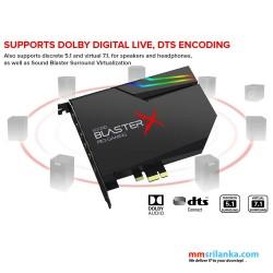 Creative Sound BlasterX AE-5 Plus PCIe Gaming Sound Card with RGB