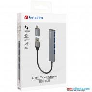 Verbatim 4-in-1 USB Hub with Type C Adaptor