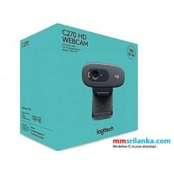 Logitech C270 HD Webcam, 720p Video with Noise Reducing Mic