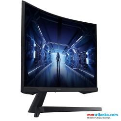 SAMSUNG 27-Inch Odyssey G5 Gaming Monitor with 1000R Curved Screen, 144Hz, 1ms, FreeSync Premium, QHD