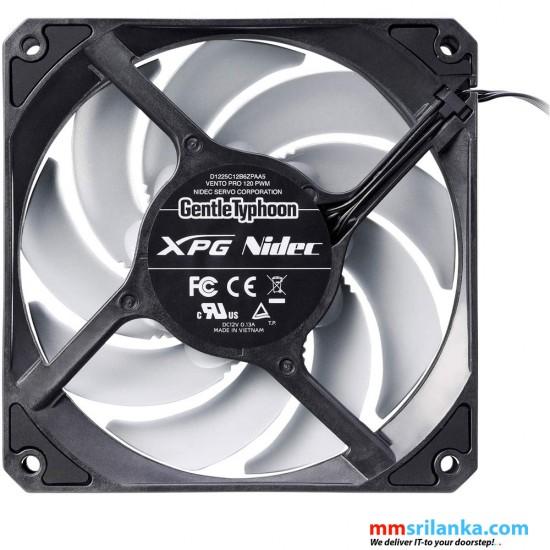 XPG Vento Pro 120mm High Performance Dual Bearing Low Noise Long-Life PC Case Cooling Fan, Single
