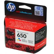 HP 650 Tri-Color Original Cartridge