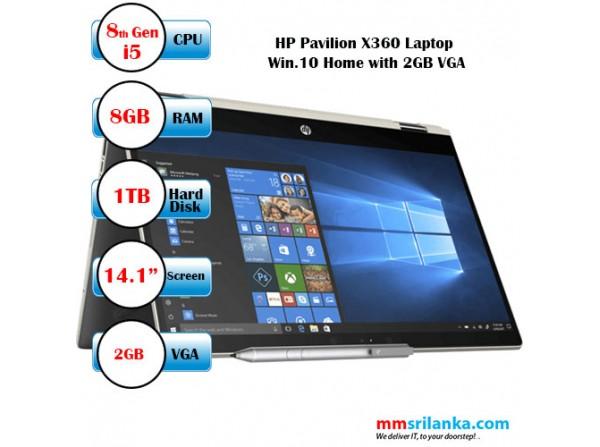 HP Pavillion X360 14-CD1027TX (8th Gen Core i5) Windows 10