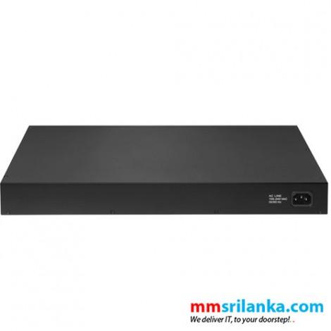 Edimax Long Range 24-Port Gigabit PoE+ Web Smart Switch with 4 Gigabit RJ45/SFP Combo Ports - GS-5424PLC