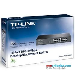 TP-Link 16-Port 10/100Mbps Desktop/Rackmount Switch- TL-SF1016DS