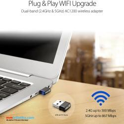 ASUS USB-AC53 AC1200 Nano USB Dual-Band Wireless Adapter