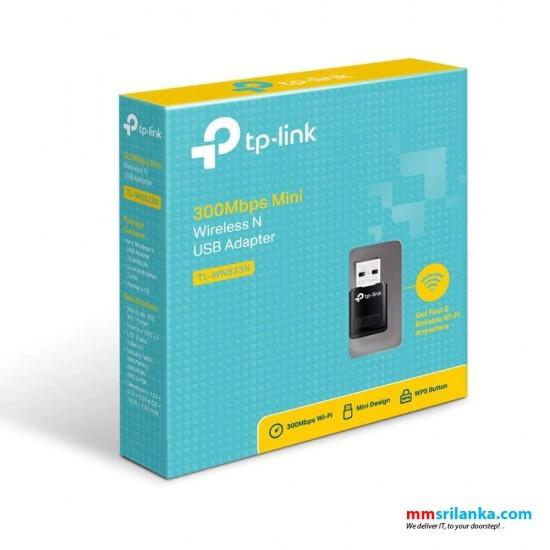 TP-Link 300Mbps Mini Wireless N USB Adapter- TL-WN823N