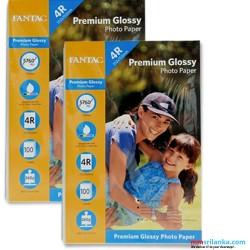 FANTAC 4R Premium Glossy 260g 100 sheets Photo Paper Pack