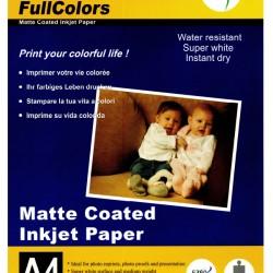 FullColors Matte Coated Inkjet A4 Photo Paper 20 sheets Pack 230gsm