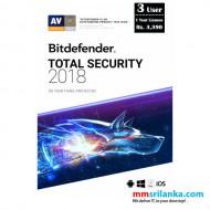 Bitdefender Total Security 2018 Three User License