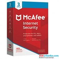 McAfee Internet Security Antivirus - 3 Devices