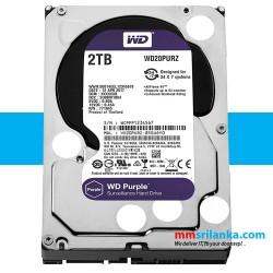 WD Purple 2TB CCTV Hard Disk Drive - 5400 RPM SATA 6Gb/s 64MB Cache 3.5 Inch