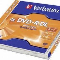 Verbatim DVD-R DL 8.5GB 5Pack Jewel Case 8x (Dual Layer)