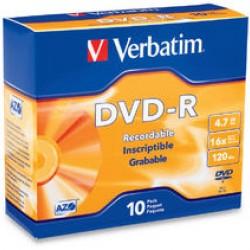 Verbatim DVD-R 16X 10Pack Slim Case
