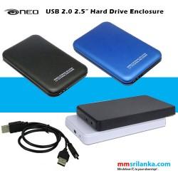 """NEO Screwless Aluminium USB 2.0 2.5"""" Hard Drive Enclosure"""