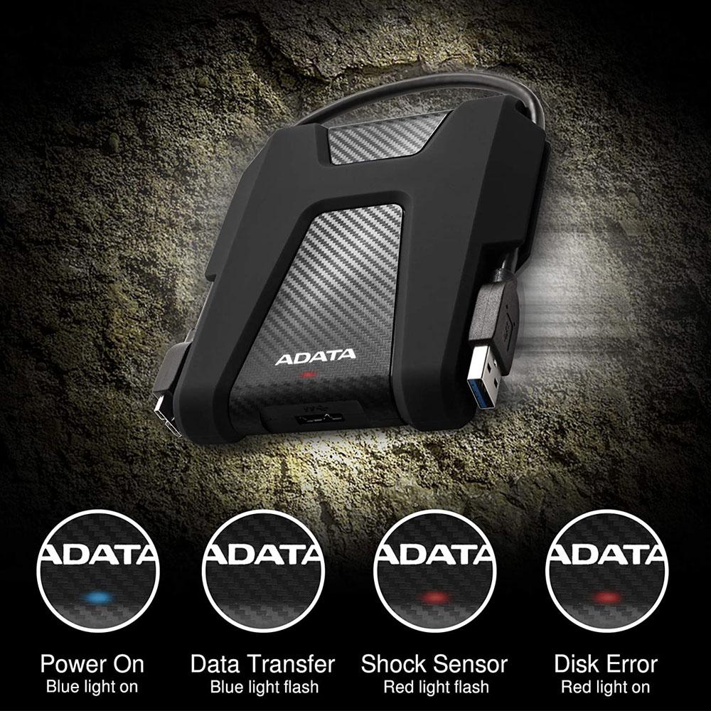 ADATA Durable 1TB USB 3.2 Gen 1 HDD (AHD680-1TU31-CBK )