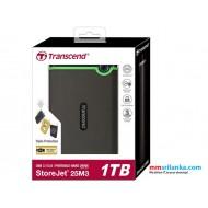 Transcend USB 3.1 Portable External Hard Drive 1TB