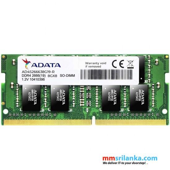 ADATA DDR4 2666MHz 8GB SO-DIMM Laptop RAM