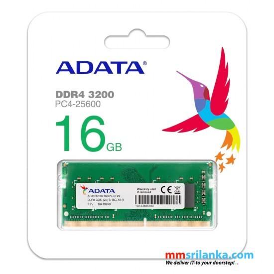 ADATA 16GB DDR4 3200MHz 260-Pin SODIMM Laptop RAM