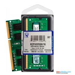 Kingston KCP432SS8/16 Valueram - DDR4 - 16 GB - SO-DIMM 260-Pin - 3200 MHz Laptop RAM