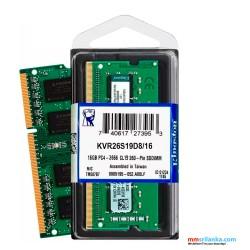 Kingston KVR26S19D8/16 Valueram - DDR4 - 16 GB - SO-DIMM 260-Pin - 2666 MHz Laptop RAM