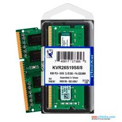 Kingston KVR26S19S8/8 Valueram - DDR4 - 8 GB - SO-DIMM 260-Pin - 2666 MHz Laptop RAM