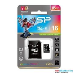 Silicon Power Elite 16GB MicroSDHC card, 85MB/s