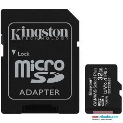 Kingston SDCS 32GB Micro SD Canvas Class 10 UHS-I Memory Card