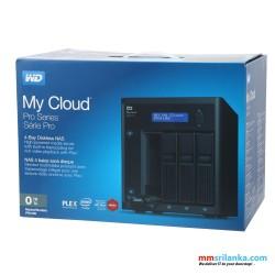 WD 0TB My Cloud Pro Series PR4100 Network Attached Storage 4 Bay Diskless - NAS - WDBNFA0000NBK-BESN