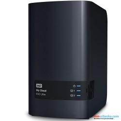 WD My Cloud EX Ultra 2-Bay Diskless Network Attached Storage 3.0 USB (Black) NAS