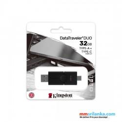 Kingston 32GB DataTraveler USB-A and USB-C connector Flash Drive/ 32GB Pen Drive/ OTG Flash Drive