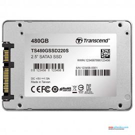 """Transcend 480GB SSD TLC SATA III 6Gb/s 2.5"""" Solid State Drive"""