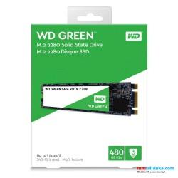 WD Green 480 GB Solid State Drive - Western Digital - Internal - M.2 2280-545 MB/S Maximum Read Transfer Rate