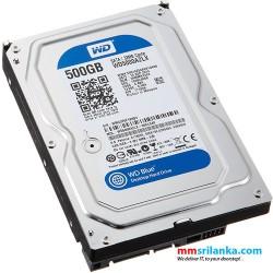 "WD Blue WD5000AZLX 500GB 7200 RPM 32MB Cache SATA 6.0Gb/s 3.5"" Internal Desktop Hard Drive Bare Drive"