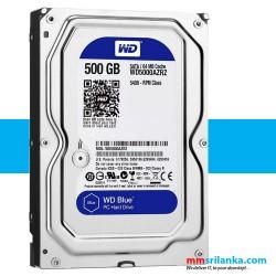 WD Blue 500GB Desktop Hard Disk Drive - 5400 RPM SATA 6Gb/s 64MB Cache 3.5 Inch