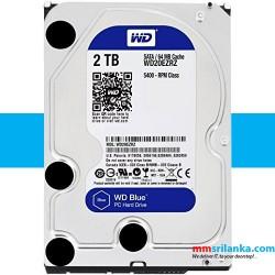 WD Blue 2TB Desktop Hard Disk Drive - 5400 RPM SATA 6Gb/s 64MB Cache 3.5 Inch