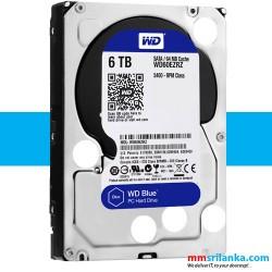 WD Blue 6TB Desktop Hard Disk Drive - 5400 RPM SATA 6Gb/s 64MB Cache 3.5 Inch