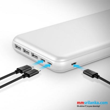 Promate 30000mAh Ultra-Slim Power Bank with 3 Input Ports & 4 Output Ports