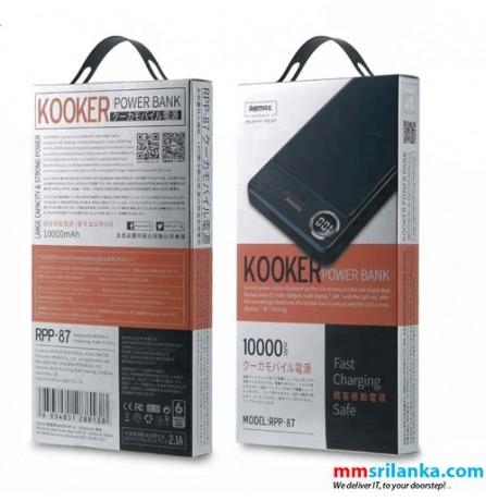REMAX Kooker RPP-87 Single USB Output 10000mAh Power Bank Charger